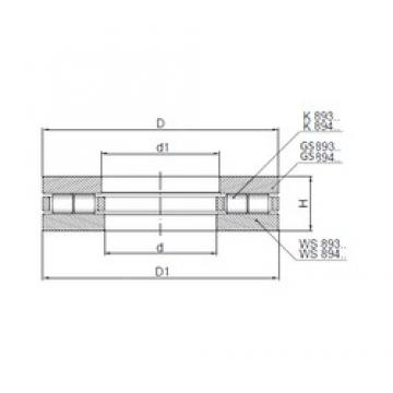 ISO 89324 thrust roller bearings