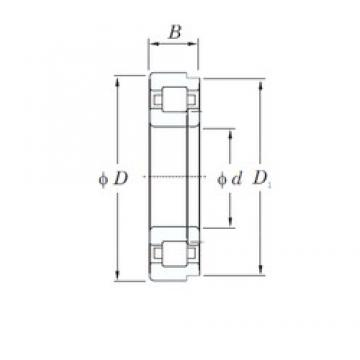 100 mm x 215 mm x 47 mm  KOYO NUP320 cylindrical roller bearings