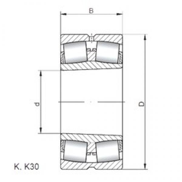 30 mm x 62 mm x 20 mm  ISO 22206 KW33 spherical roller bearings #2 image